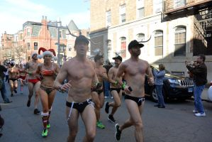 2015 Santa Speedo Run, the Dashing Finish 19 by Miss-Tbones