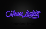Neon Lights Photoshop Styles by MariMysteria