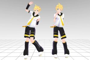 MMD Tda Len Kagamine Download !! by InoriAruma