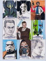 Star Wars Galactic Files series 2 sketch cards 10 by DarklighterDigital