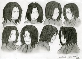 Harry Potter - Snape by LadyGrell93