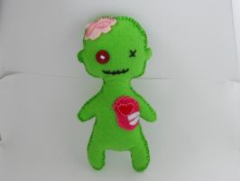 Zombie felt doll by NevynS