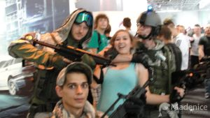 Soldiers and Lara by Madenice