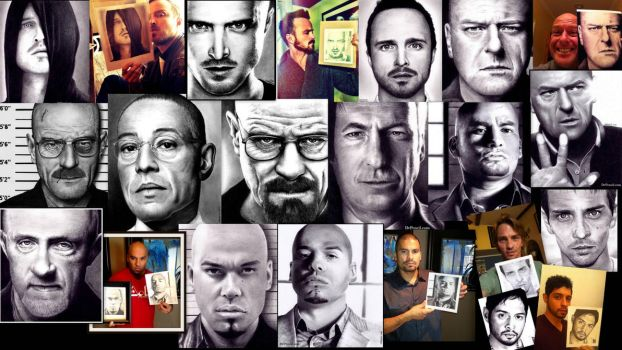 YOUTUBE video - ALL 14 Breaking Bad Drawings WIPs by Doctor-Pencil