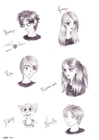HP Characters by Q-Rai