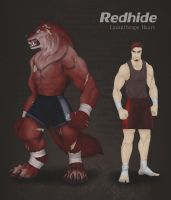 OC-Redhide by LycanthropeHeart