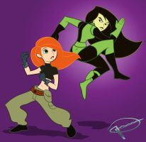 Kim Vs Shego by MillerBox
