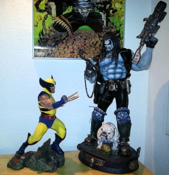 SIDESHOW LOBO and WOLVERINE PREMIUM FORMAT by loboscuro