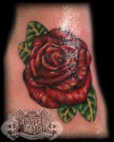 Colour rose by state-of-art-tattoo