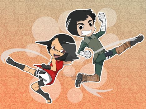 commission : Konsu and rock lee by pink-hudy
