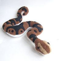 ball python plush by WeirdBugLady