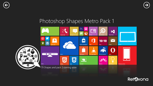 Metro Shape for photoshop pack 1 by sharkurban