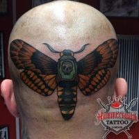 Alex Neo Traditional Deaths Head Moth by HammersmithTattoo