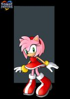 amy rose  -  commission by nightwing1975