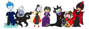 Disney Villains Get Together by aydieva