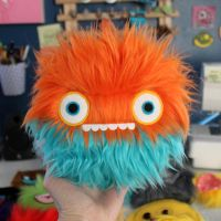 Orange and Blue Monster by loveandasandwich