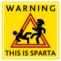 Warning: This is Sparta by Pacolin