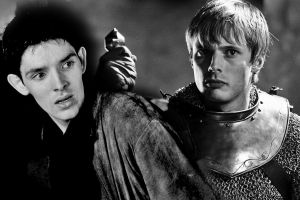 A Merlin and Arthur Wallpaper by bex1991