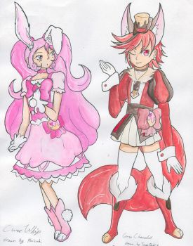 Cure Whip and Chocolat Collab by Chaotic-Kyubi