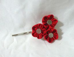 small red plum blossoms bobby pin by EruwaedhielElleth