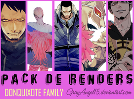 Pack de Renders - Donquixote Family by GrayAngel15