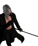 Sephiroth - Crouch by guineapiggin