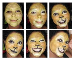 Lion Face paint by Tanis711