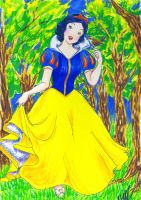 Snow White and Her Wren by Plaid-F