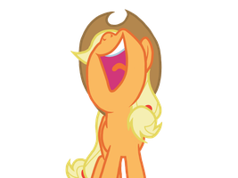 Applejack Laughing by AppleBirdie