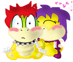 Bowser and Cera by Quacksquared
