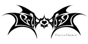 Tribal Wings...heart by KariNeko