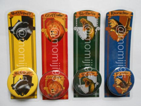 Harry Potter bookmarks by Momiji95