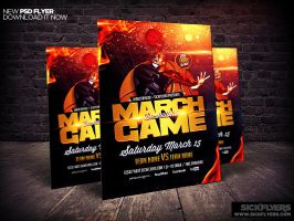 March Madness Basketball Flyer Template by Industrykidz