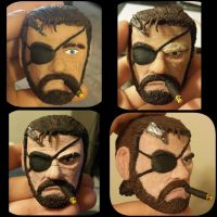 Big Boss (Phantom Pain) Sculpt progress collage 2 by TweedLD