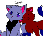 mr.cat and mabelle in love by BeautifullyDarkened