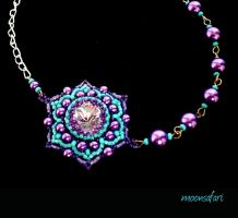 Flower necklace by moonsafaribeads