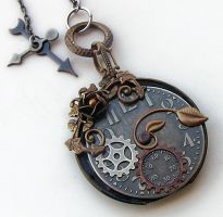 Steampunk Watch Necklace by Aranwen