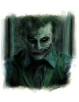 Heath 'Joker' Ledger COLOR by i3i11theWi11