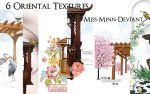 6 Oriental Textures/Backgrounds by VaL-DeViAnT