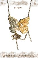Steampunk Butterfly Pendant by Hyo-pon