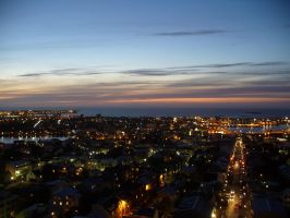 Reykjavik at night by schattigerKeks