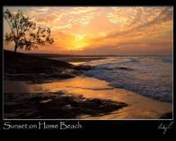 Sunset At Homen Beach by 2Stupid2Duck