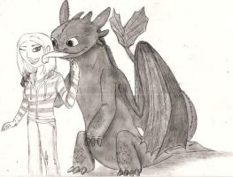 Toothless fan requested art by Immarumwhore