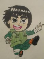 Rock Lee Chibi by SeraphinaPitchiner