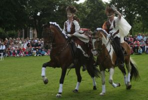 baroque riders on a horse event by Nexu4