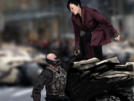 Bane being a gentleman by Obsess-Confess