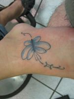 butterfly and zodiac by theothertattooguy