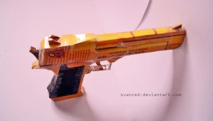 Crossfire Desert Eagle Gold Papercraft 2 by svanced