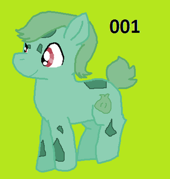 Ponikemon 001 - Bulbasaur (New) by rongothepony