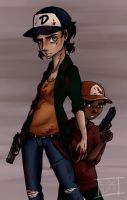 The Walking Dead - Clementine and AJ. by BrimRun